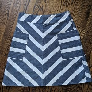 Anthro Chevron skirt with pockets